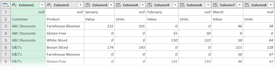 Preview Window - Month not in each column