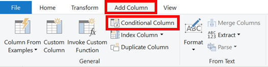 Add Column - Conditional Column