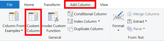Add Column - Custom Column