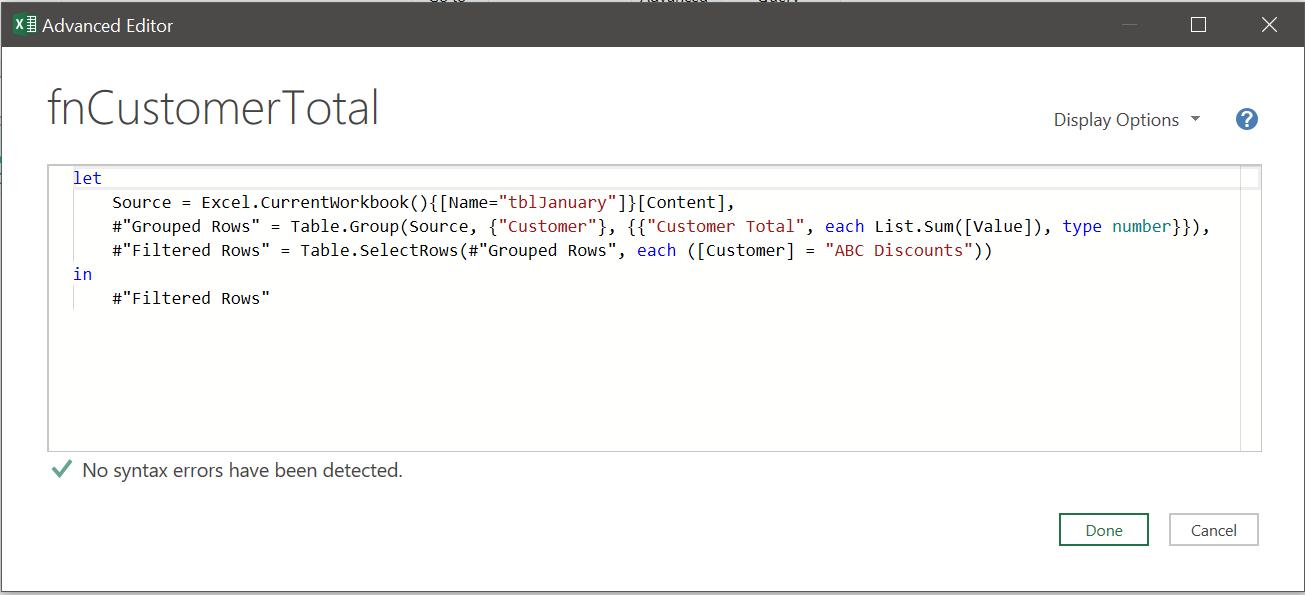 Advanced Editor - M Code