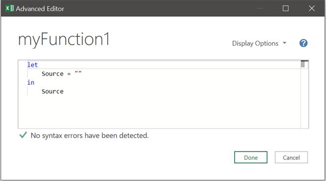Advanced Editor Window - Blank Query