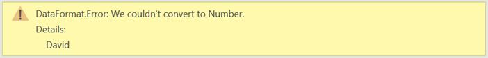 DataFormat.Error Message