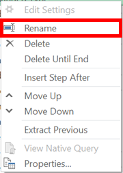 Right-click and rename