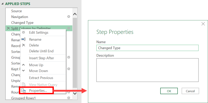 Step Properties - Comments