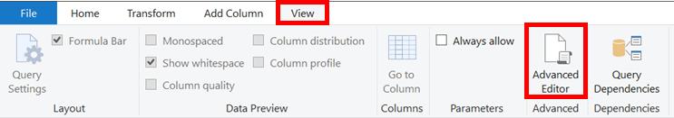 View - Advanced Editor