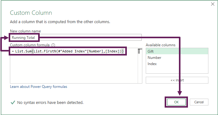 Enter data into Custom Column