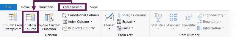 Power Query Add Custom Column