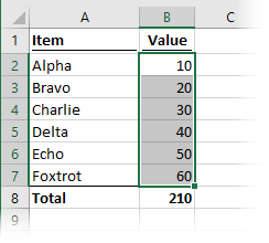 Select cells before running macro