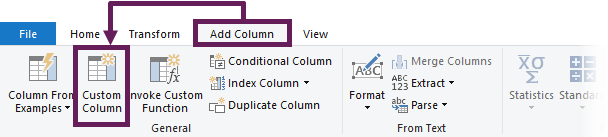 Add Custom Column - PQ formula