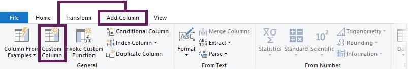 Add column - Custom column
