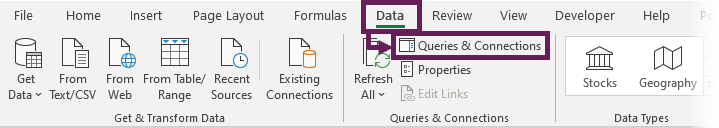 Data - Queries and Connections