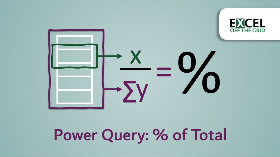 Power Query - Percent of total or category