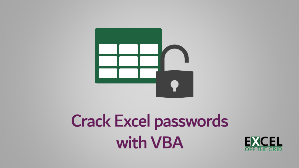 Crack Excel passwords with VBA