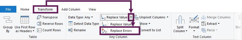 Transform - Replace Errors