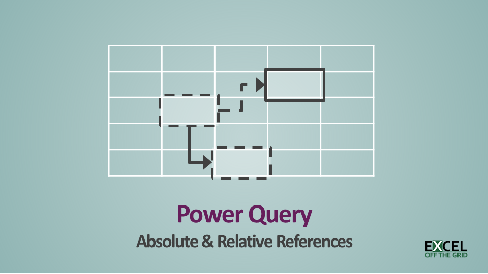 Power Query - Absolute and relative references