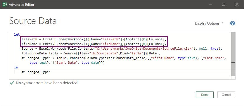 Advanced Editor with FilePaths added