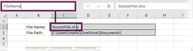 Create Named range for File Name
