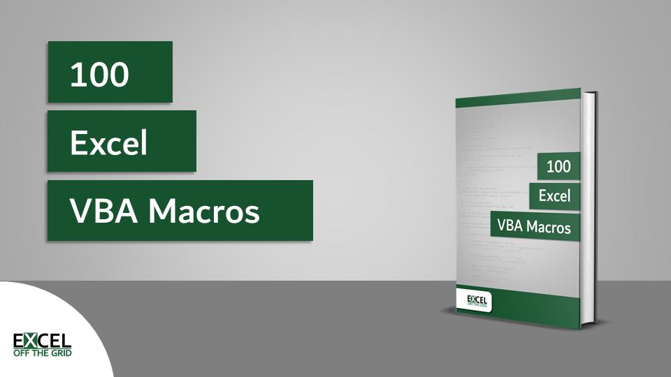 100 Excel VBA Macros
