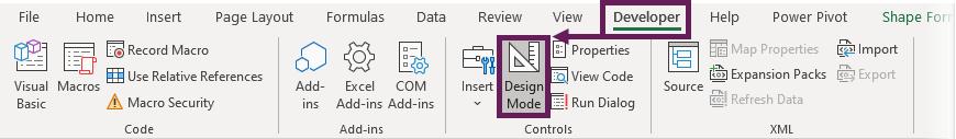 Developer - Design Mode