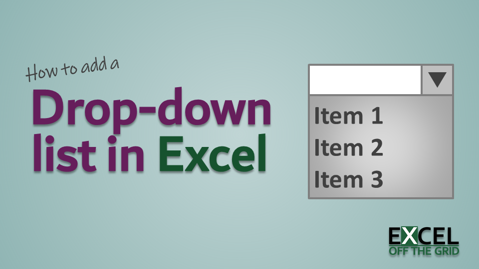 How to add a drop-down list in Excel