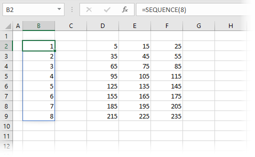 SEQUENCE Basic Usage 1