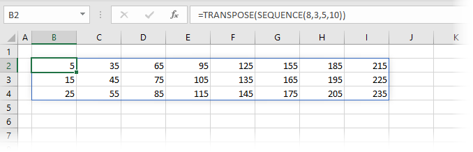 SEQUENCE Transposed