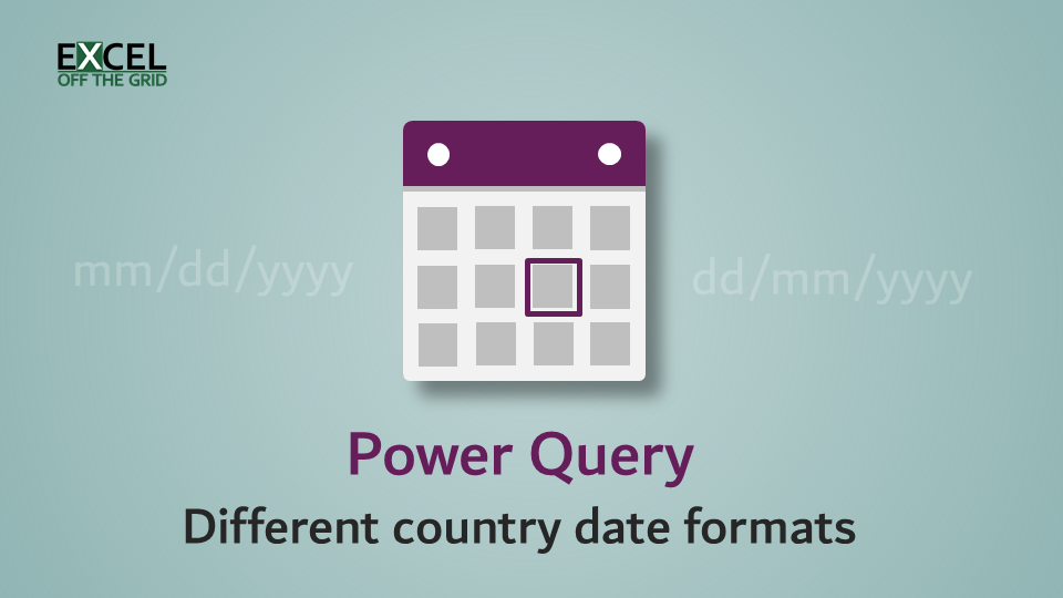 Power Query - Different country date formats