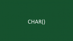 CHAR Function Featured Image