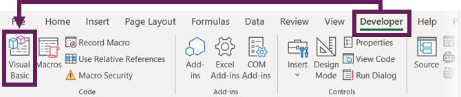 Developer - Visual Basic
