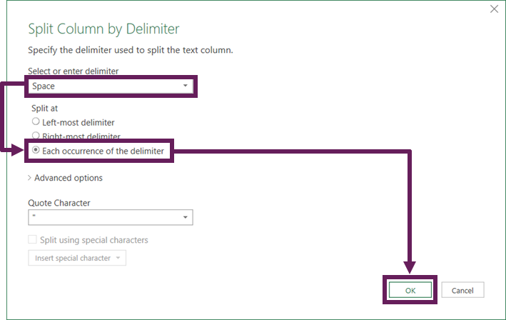 Split Column be Delimiter
