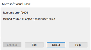 Error when trying to hide the last worksheet