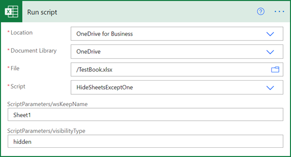 Hide all worksheets except one in Power Automate