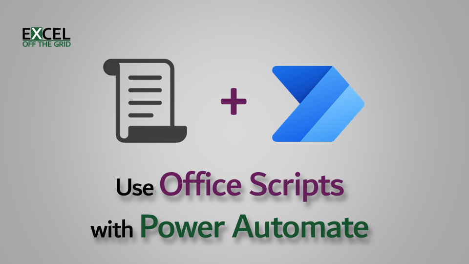 Use Office Scripts with Power Automate