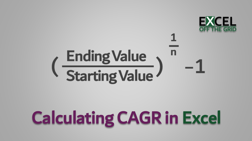 Calculate CAGR in Excel (Compound Annual Growth Rate)