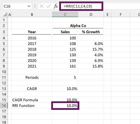 RRI Function in Excel